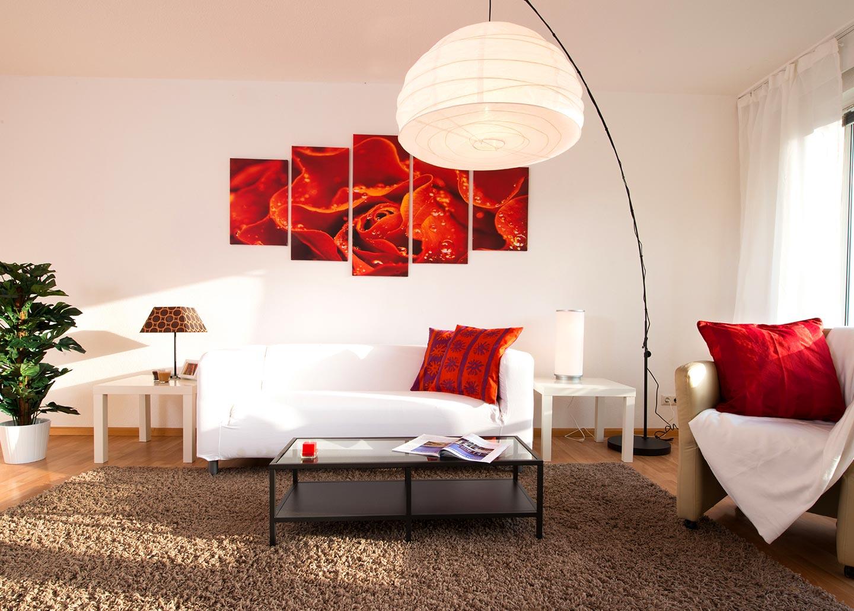 eine stimmungsvoll dekorierte Wohnung